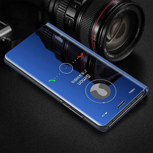 Vivo S1 Mirror Clear View Flip Case [Non Sensor Working]