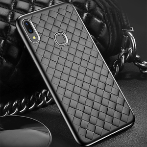 Galaxy M20 Ultra-thin Grid Weaving Silicone Back Case