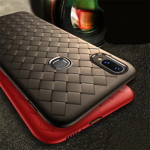 Vivo V9 Ultra-thin Grid Weaving Silicone Back Case