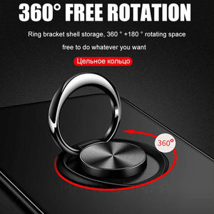 Vivo Y30 Metallic Ring Holder Matte Case