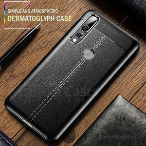 Vivo Y17 Auto Focus Leather Texture Case