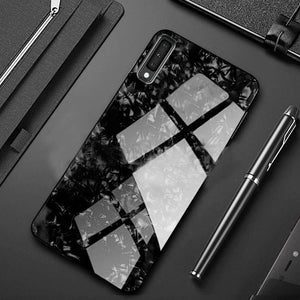 Galaxy A50s Dream Shell Series Textured Marble Case