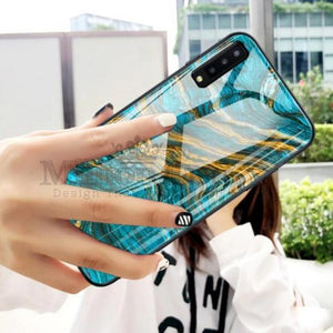 Galaxy A70 Soothing Sea Pattern Marble Glass Back Case