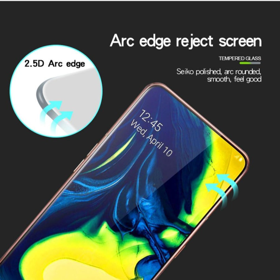 Galaxy A80 5D Tempered Glass Screen Protector