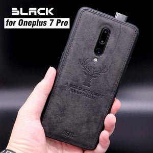 OnePlus 7 Pro (3 in 1 Combo) Deer Case + Tempered Glass + Earphones