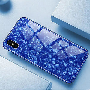 Luxury Dream Shell Textured Marble Case