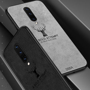 OnePlus 8 (3 in 1 Combo) Deer Case + Tempered Glass + Earphones