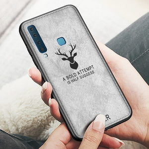 Galaxy A9 (2018) Deer Pattern Inspirational Soft Case
