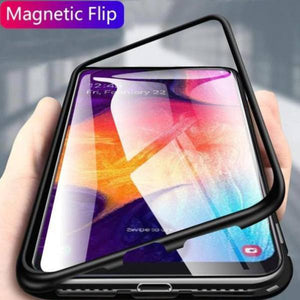 Galaxy M40 Electronic Auto-Fit Magnetic Transparent Glass Case