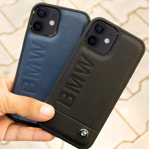 BMW ® iPhone 12 Genuine Leather Texture Case