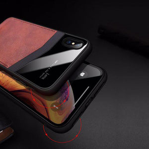 JOYROOM ® iPhone XS Max Leather Texture Polarized Lens Case