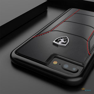 Ferrari ® iPhone 7/8 Plus Genuine Leather Crafted Limited Edition Case