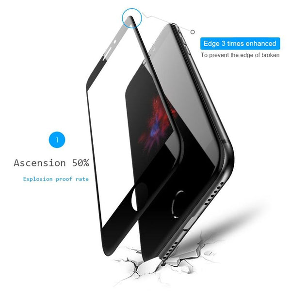 iPhone 8 Plus 5D Tempered Glass Screen Protector [100% Original]