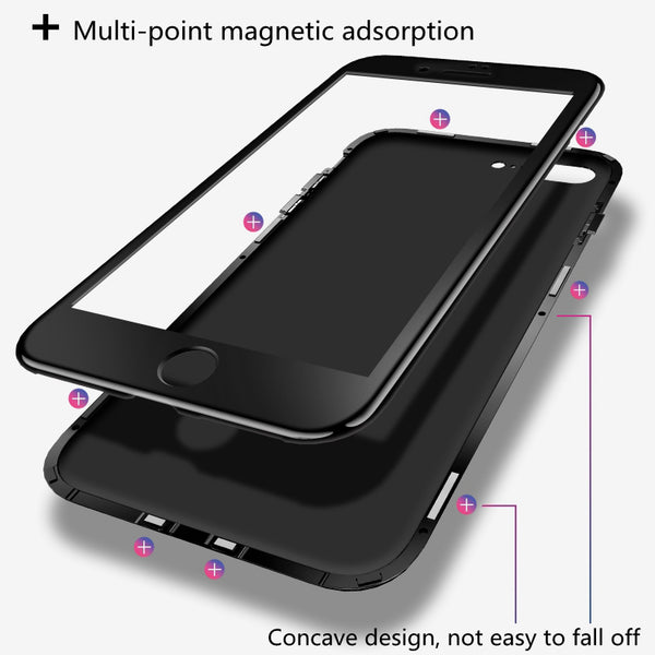 iPhone 7 Electronic Auto-Fit (Front+ Back) Glass Magnetic Case