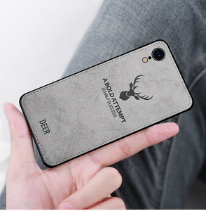 iPhone XR Deer Pattern Inspirational Soft Case (3-in-1 Combo)