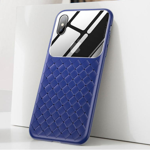 Baseus ® iPhone XS Max Cross Knit Clear Window Case
