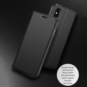 DZGOGO ® iPhone XS PU Leather Card Slot Flip Case