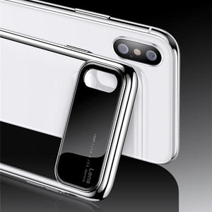 TOTU ® iPhone XS Polarized Lens Mirror Transparent Hard Case