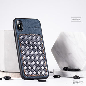 Rock ® iPhone XS Max Leather Weave Stud Case