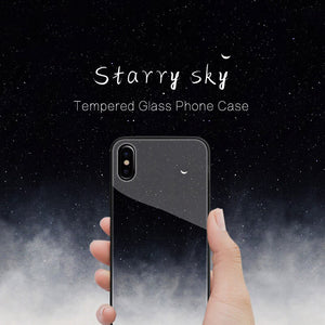 iPhone X Exquisite Moonlit Soft Edge Glass Case