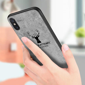 iPhone X (3 in 1 Combo) Deer Case + Tempered Glass + Earphones
