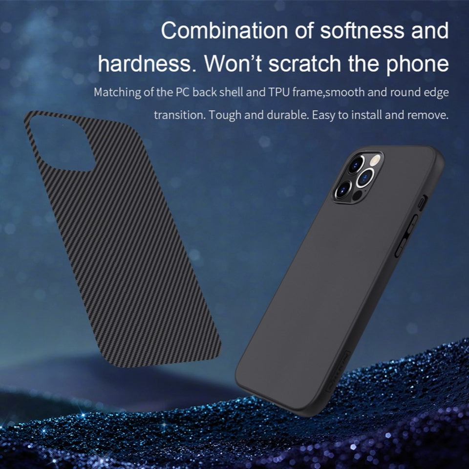 iPhone 12 Pro Synthetic Carbon Fiber Case