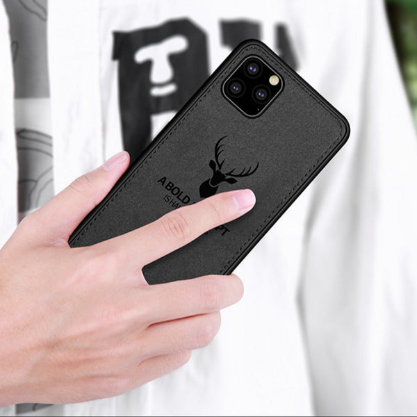 iPhone 11 Pro Max Deer Pattern Inspirational Soft Case (3-in-1 Combo)