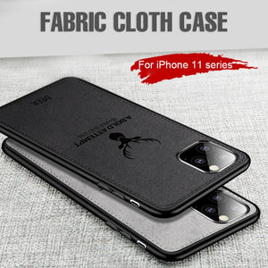 iPhone 11 (3 in 1 Combo) Deer Case + Tempered Glass + Earphones