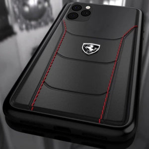 Ferrari ® iPhone 11 Series Genuine Leather Crafted Limited Edition Case