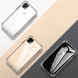 MK ® iPhone 11 Pro Max Baseus Anti-Knock TPU Transparent Case