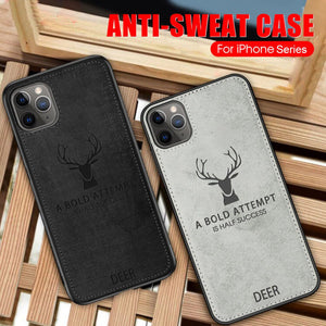 iPhone 11 Pro Max (3 in 1 Combo) Deer Case + Tempered Glass + Earphones