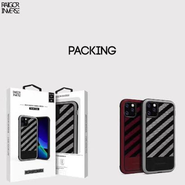 MK ® iPhone 11 Pro Max Raigor Inverse Shockproof Business Look Case
