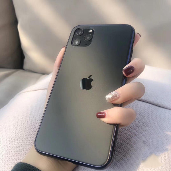 iPhone 11 Series Soft Edge Matte Finish Glass Case