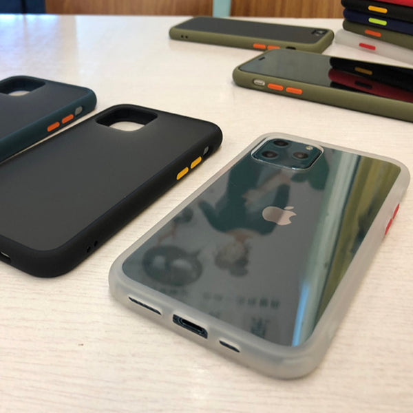 MK ®iPhone 11 Pro Max ROCK Luxury Shockproof Matte Finish Case