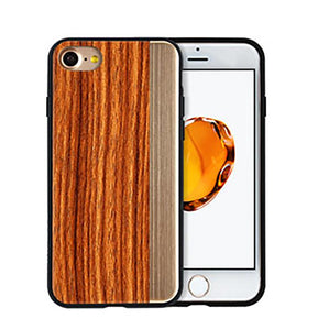 iPhone 7 Straight Pattern Wooden TPU Series Case