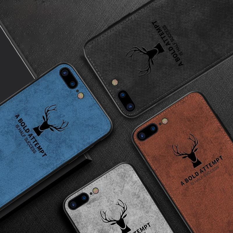 iPhone 8 Plus Deer Pattern Inspirational Soft Case