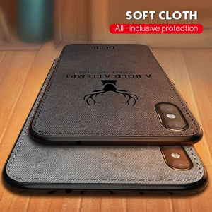 3D Deer Print Cloth Textured Inspirational Soft Case
