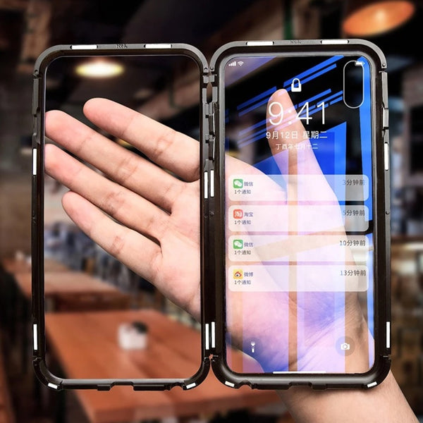 iPhone X Series Electronic Auto-Fit Magnetic Glass Case