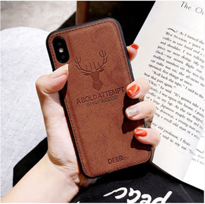 iPhone XS Max (3 in 1 Combo) Deer Case + Tempered Glass + Earphones