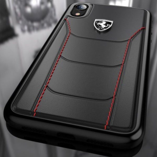 Ferrari ® iPhone XR Genuine Leather Crafted Limited Edition Case