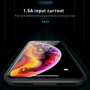 MK ® iPhone XS Portable 3600 mAh Battery Shell Case