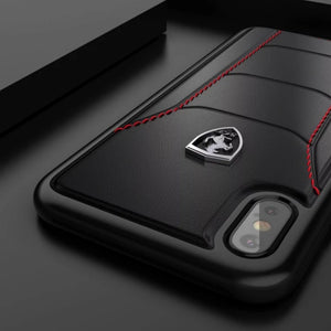 Ferrari ® iPhone XS Genuine Leather Crafted Limited Edition Case
