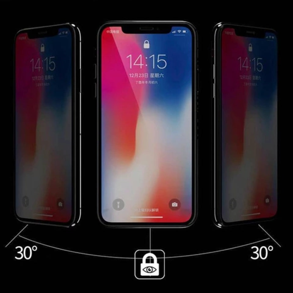 iPhone Xs Max Privacy Tempered Glass [ Anti- Spy Glass]