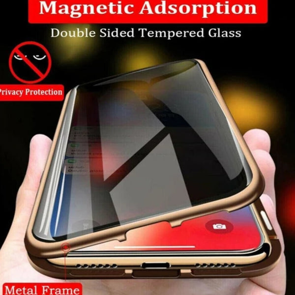 iPhone XS Max Auto-Fit (Front+ Back) Anti Spy Glass Magnetic Case
