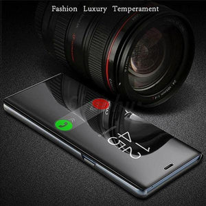 Redmi K20 Mirror Clear View Flip Case [Non Sensor Working]