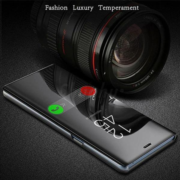 Redmi K20 (2 in 1 Combo) Mirror Clear Flip Case + Earphones