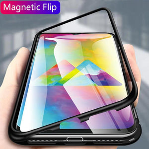Galaxy M20 Electronic Auto-Fit Magnetic Transparent Glass Case