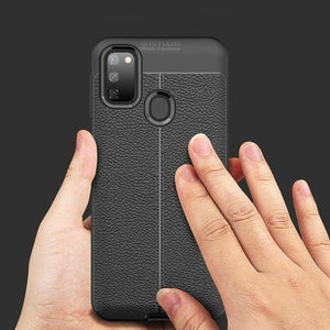 Galaxy M30s Auto Focus Leather Texture Case