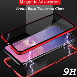 Mi Poco F1  Electronic Auto-Fit (Front+ Back) Glass Magnetic Case