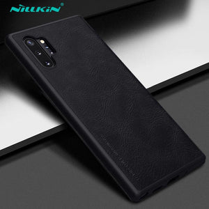 Galaxy Note 10 Plus Genuine QIN Leather Flip Case